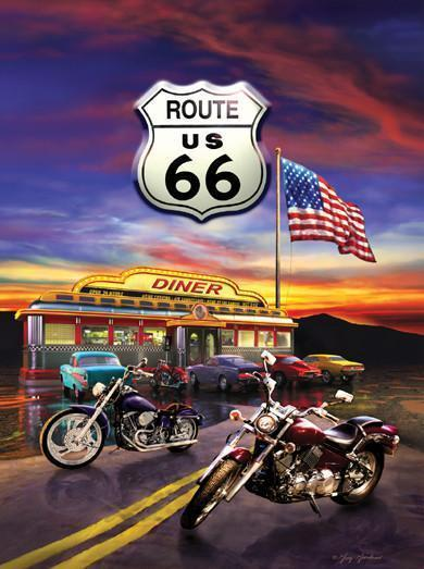 Route 66 Diner 1000pc Jigsaw Puzzle | Greg Giordano