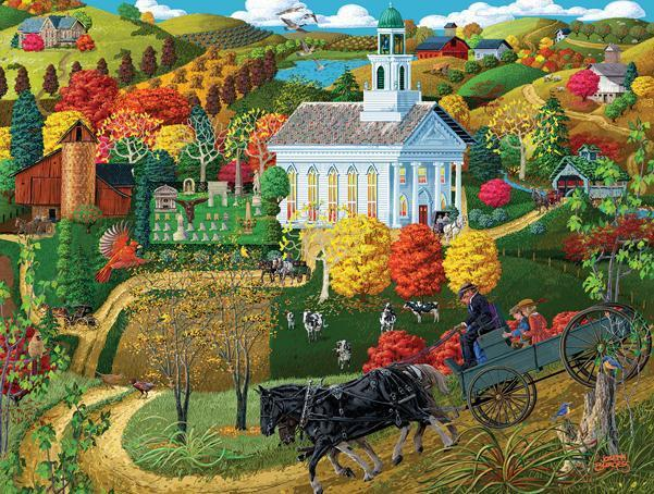 A Country Church 500pc Jigsaw Puzzle | Joseph Burgess
