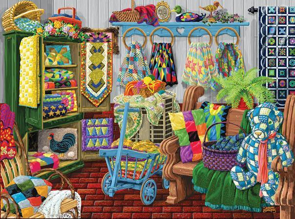 The Quilt Fair 1000pc Jigsaw Puzzle | Joseph Burgess