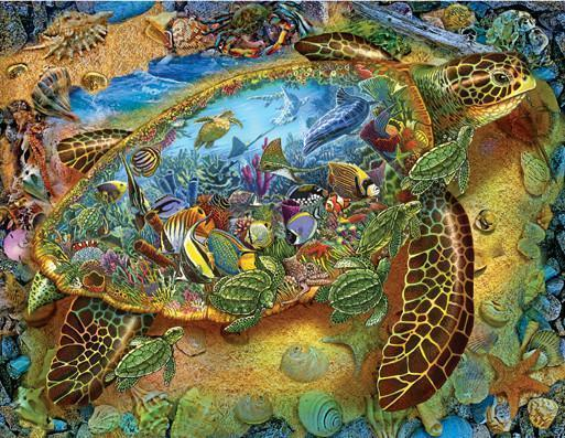 Sea Turtle World 1000pc Jigsaw Puzzle | Lewis T. Johnson