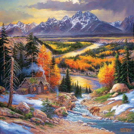 Fall Retreat 500pc Jigsaw Puzzle | Keith Brown