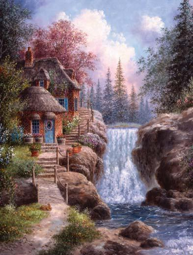 Tranquility Falls 1000pc Jigsaw Puzzle | Dennis Lewan