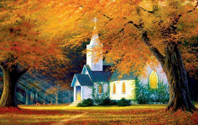 Church in the Glen 550pc Jigsaw Puzzle | Charles White
