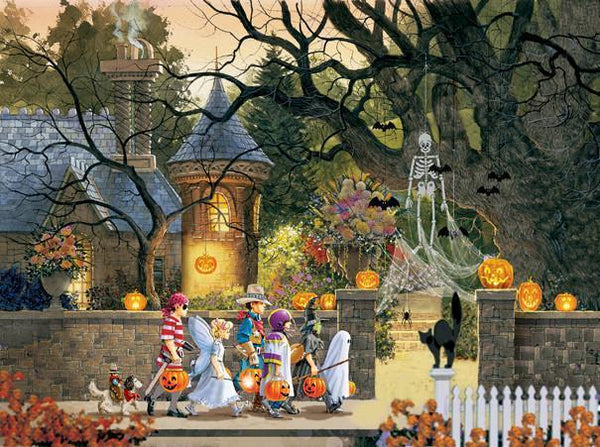 Friends on Halloween 1000pc Jigsaw Puzzle | Doug Laird