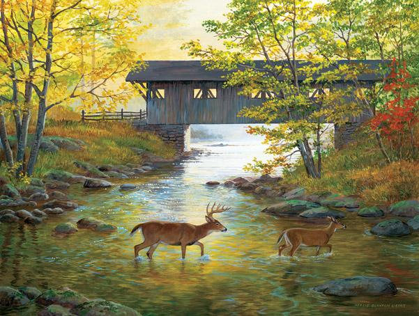 Rock Creek Crossing 500pc Jigsaw Puzzle | Persis Clayton Weirs