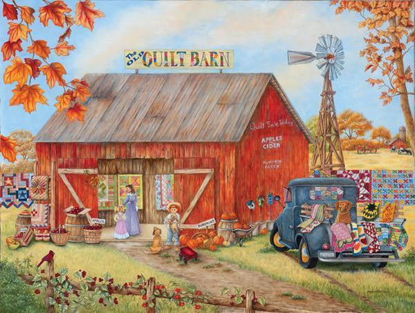 The Quilt Barn 500pc Jigsaw Puzzle | Kay Lamb Shannon