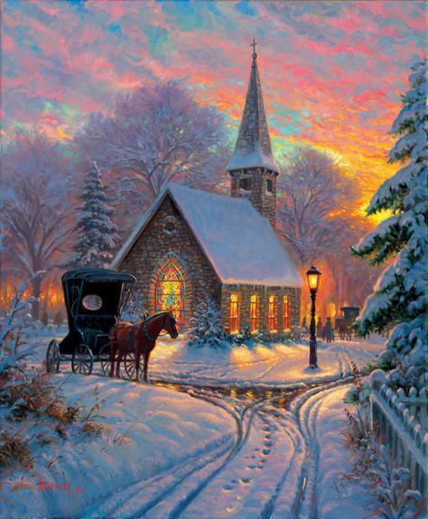 Carriage Chapel 1000pc Jigsaw Puzzle | Mark Keathley