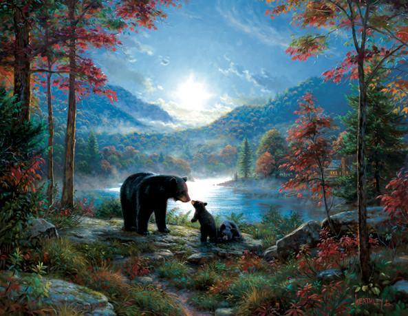 Bedtime Kisses 1000+pc Jigsaw Puzzle | Mark Keathley