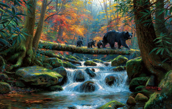 Precarious Crossing 1000pc Jigsaw Puzzle | Mark Keathley