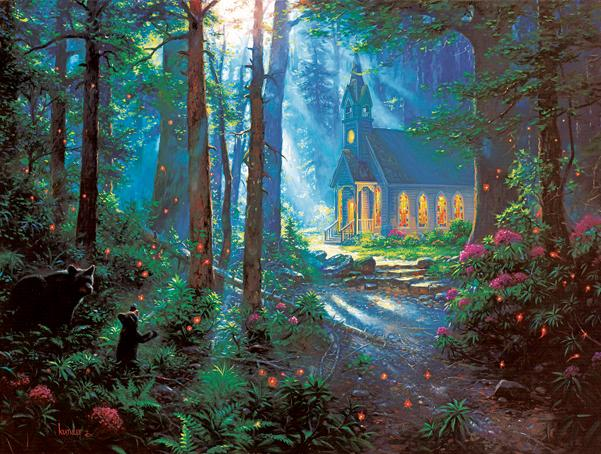 Chapel Visitors 500pc Jigsaw Puzzle | Mark Keathley