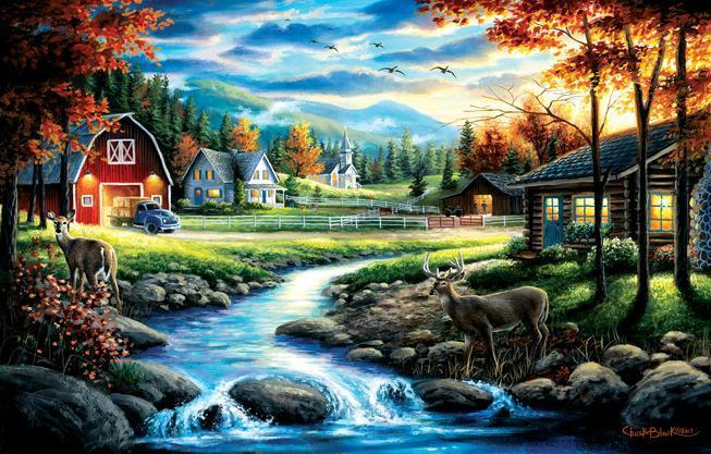 Country Sunday 1000pc Jigsaw Puzzle | Chuck Black