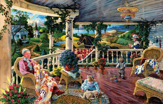 Afternoon with Grandma 1000pc Jigsaw Puzzle | Tom Antonishak