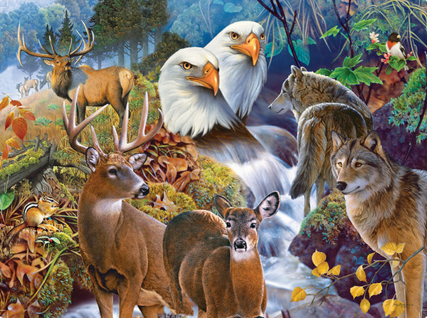 Forest Neighbors 1000pc Jigsaw Puzzle | Jerry Gadamus