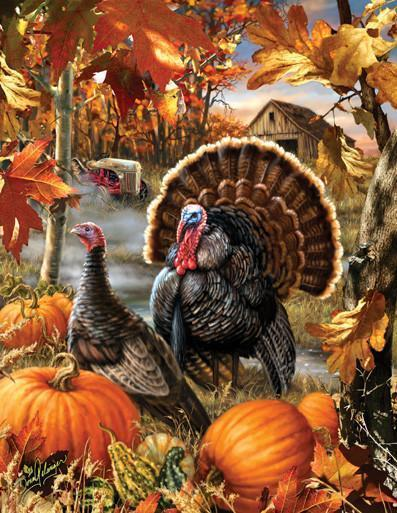 Gobbler Farms 1000+pc Jigsaw Puzzle | Dona Gelsinger