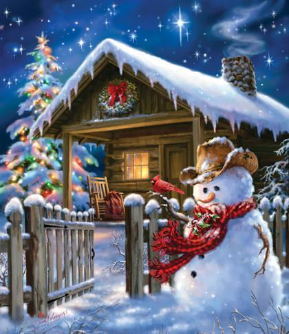 Christmas Cheer 550pc Jigsaw Puzzle | Dona Gelsinger