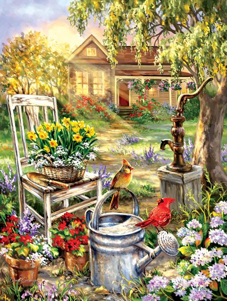 Spring Song 500pc Jigsaw Puzzle | Dona Gelsinger