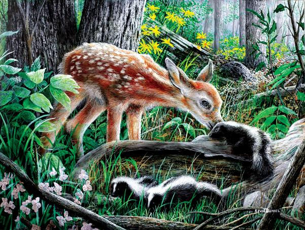 Friends of the Forest 500pc Jigsaw Puzzle | Kevin Daniel