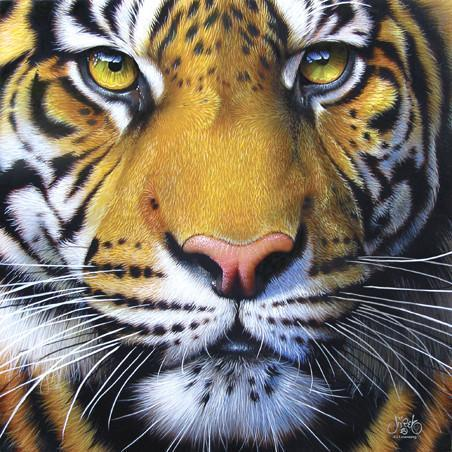 Golden Tiger Face 1000pc Jigsaw Puzzle | JQ