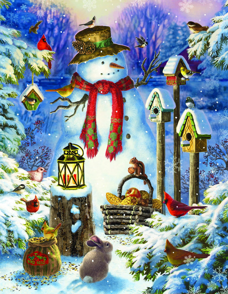 Snowman in the Wild 1000+pc Jigsaw Puzzle | Liz Goodrich Dillon