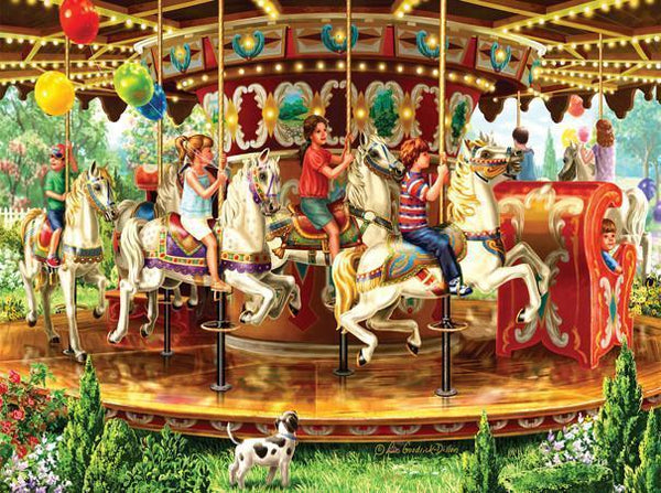 Carousel Ride 1000pc Jigsaw Puzzle | Liz Goodrick-Dillion