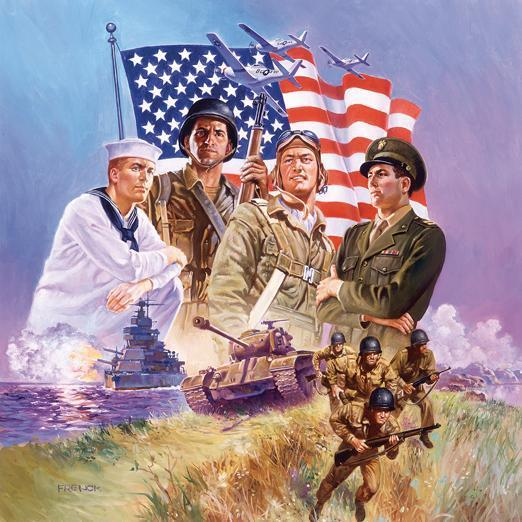 The Armed Forces 500pc Jigsaw Puzzle | Hal Frenck