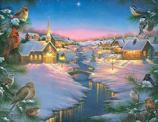 A Winter's Silent Night 1000+pc Jigsaw Puzzle | Abraham Hunter