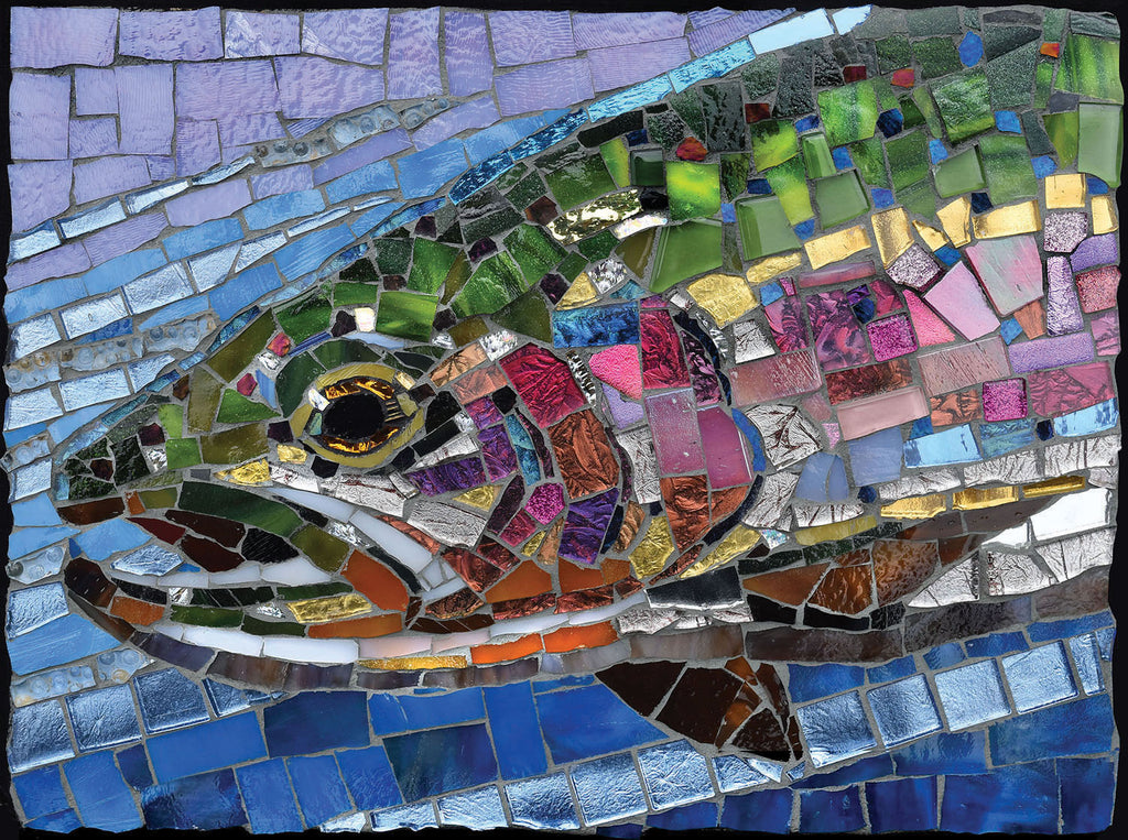 Stained Glass Mosaic Rainbow Trout