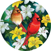 Cardinals in the Round 500pc Shaped