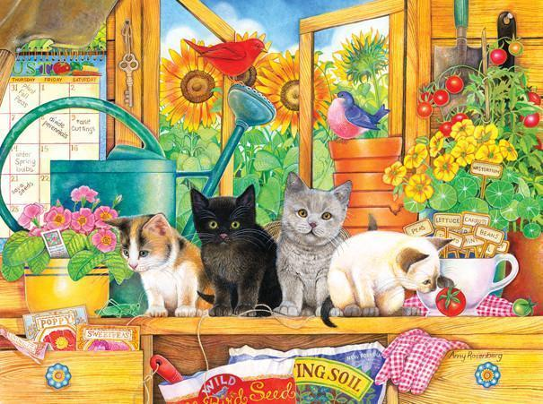 Potting Shed Kittens 1000pc Jigsaw Puzzle | Amy Rosenberg