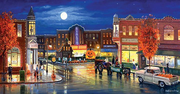 Halloween in the City 500pc Jigsaw Puzzle | George Kovach