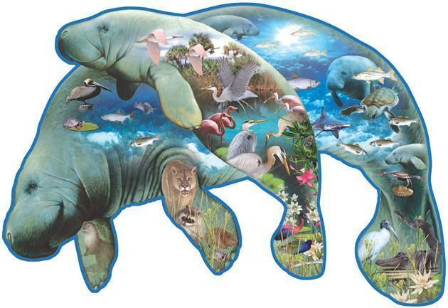 Manatees 1000pc Shaped Jigsaw Puzzle | Lori Schory