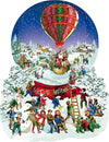 Old Fashioned Snow Globe 1000pc Shaped