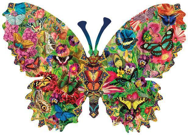 Butterfly Menagerie 1000pc Shaped Jigsaw Puzzle | Lori Schory