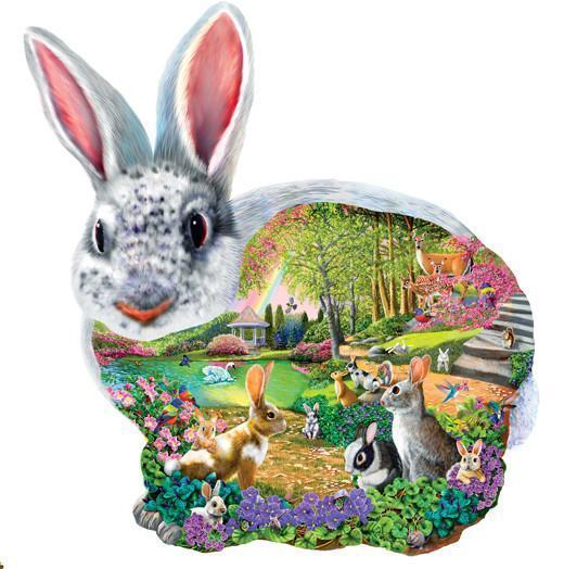 Bunny Hollow 1000pc Shaped Jigsaw Puzzle | Mary Thompson