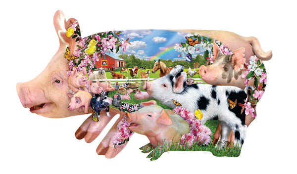 Pig Farm 800pc Shaped