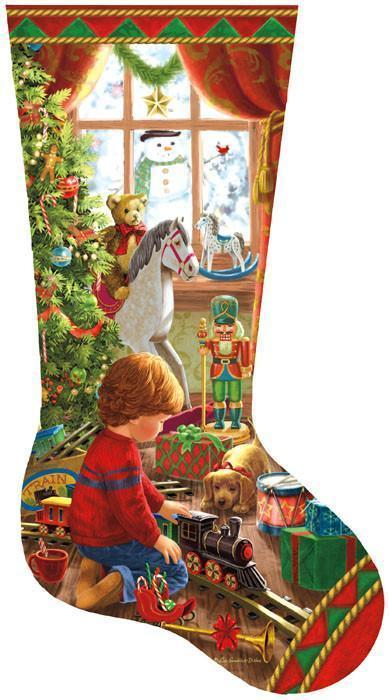 A Boy's Stocking 1000pc Shaped Jigsaw Puzzle | Liz Goodrick-Dillion