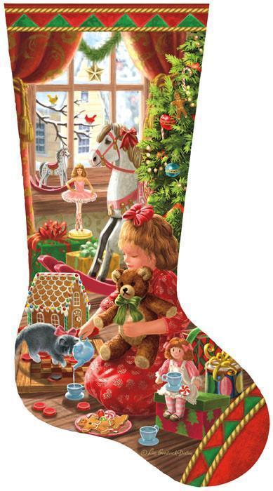 A Girl's Stocking 800pc Shaped Jigsaw Puzzle | Liz Goodrick-Dillion