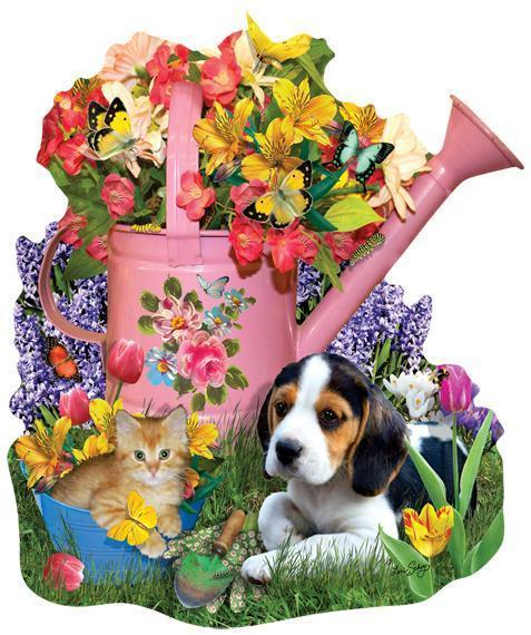 Spring Watering Can 1000pc Shaped Jigsaw Puzzle | Lori Schory
