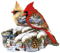 Winter Cardinals 800pc Shaped