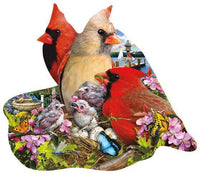 Spring Cardinals 800pc Shaped