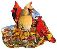Fall Cardinals 800pc Shaped