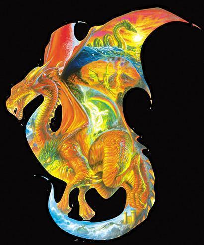 Dragon Dreams 1000pc Shaped Jigsaw Puzzle | Bob Eggleton