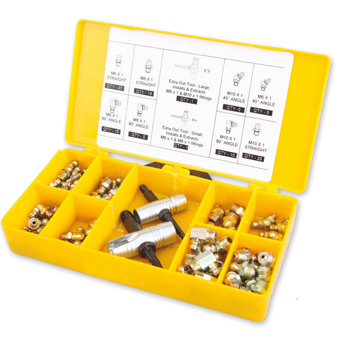 Wolflube Kit SAE Grease Fittings - Box with 101 pcs.
