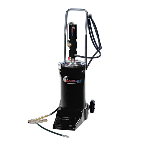 Wolflube Pneumatic wheeled grease pump for 35 lbs