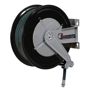 Wolflube Automatic Hose Reel for Grease - 3/8in - 100 ft Hose
