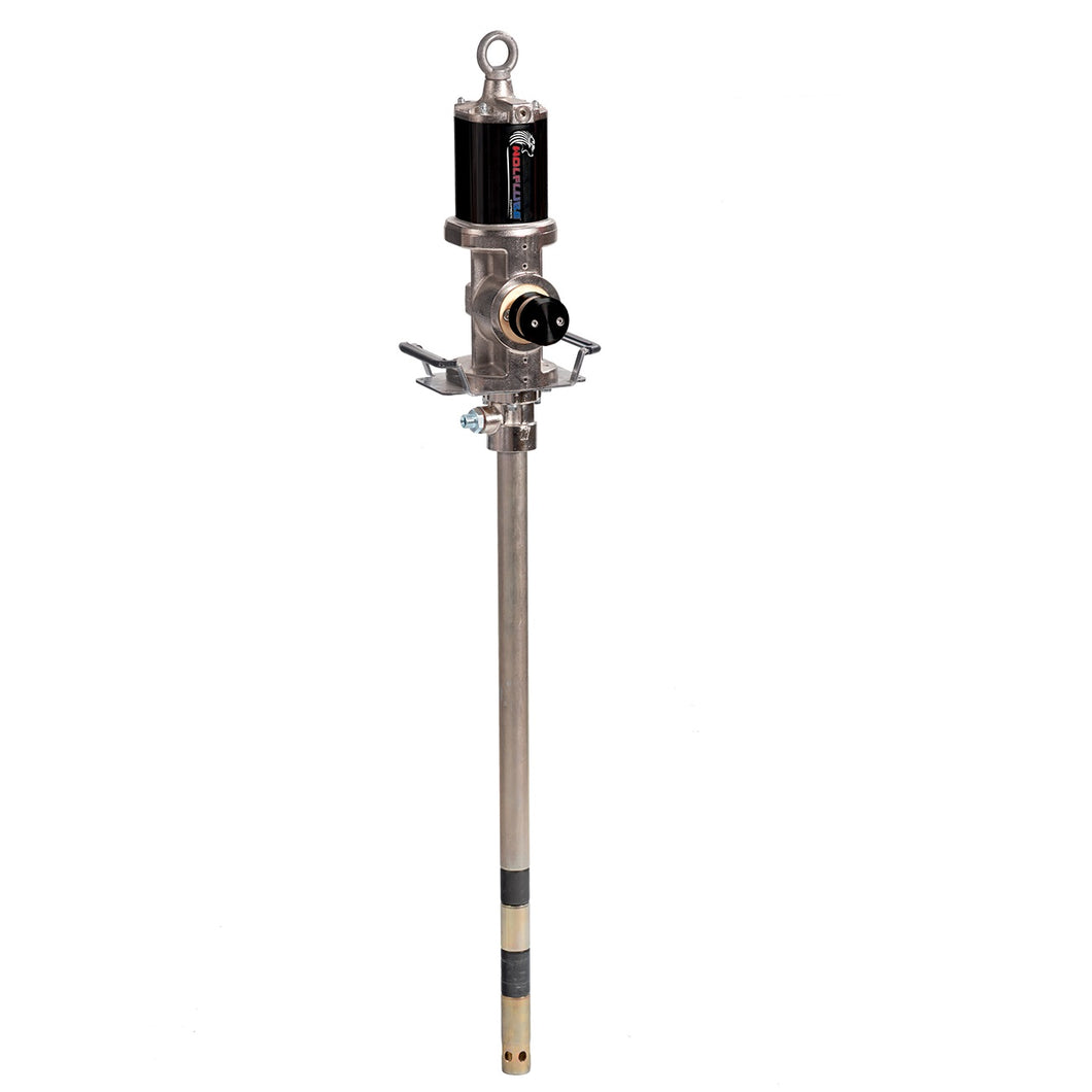 Wolflube Air-Operated Grease Pump - Industrial - 50:1 - For 400 lbs Drum - Free Flow Rate 9.92 lbs/min