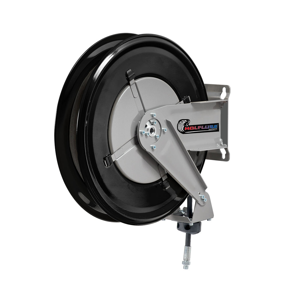 Wolflube Automatic Hose Reel for Grease – 3/8in – 50ft Hose