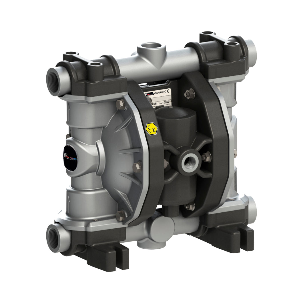 Wolflube Diaphragm Pump - Aluminum - 3/4'' - For Oil and Diesel - Free Flow Rate 29 gpm freeshipping - Empire Lube Equipment
