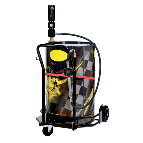 Wolflube Wheeled Oil Set – for 55 GAL Drums – 5:1 - Digital Meter