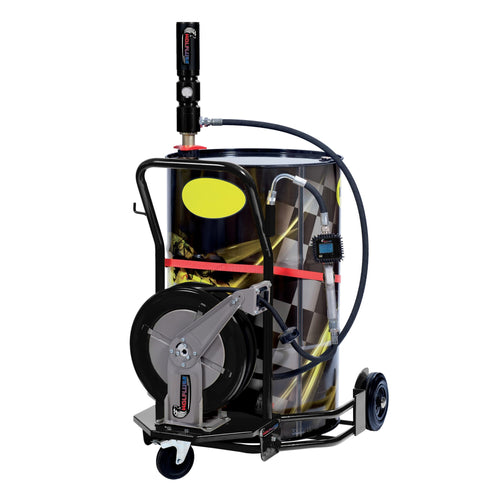 Wheeled Oil Set – for 55 GAL Drums – 3:1 - 30ft Hose Reel